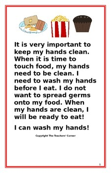 """Social Story- """"I Can Wash My Hands"""": A Better Behavior Booklet"""