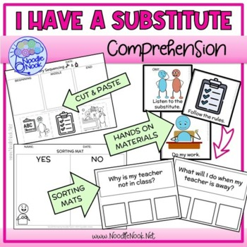 I Have a Substitute- A Social Story for Skills Building and Behavior Plans