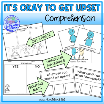 It's Okay to Get Upset- A Social Story for Behavior w/Comprehension Questions!
