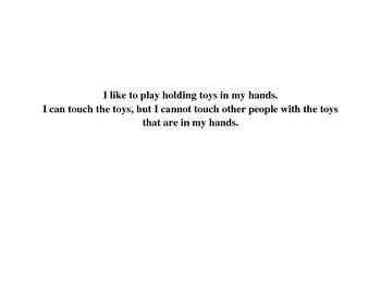 Social Story - I Like to Play (no play-fighting)