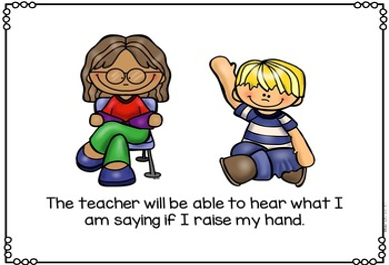 Social Story - I Raise My Hand In The Classroom