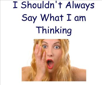 Social Story - I Shouldn't Always Say What I Am Thinking