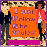 Autism Social Story Life Skills Vocational CBI I Will Follow The Rules! SPED/ELL