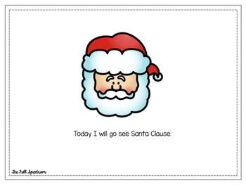 Social Story: I Will Go See Santa