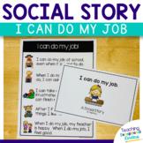 #PresidentsDayFreebie Social Story I can do my job at school