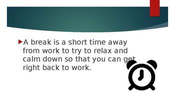 Social Story: I can take a break