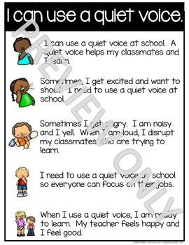 Social Story I can use a quiet voice