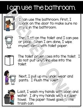 Social Story:  I can use the bathroom.