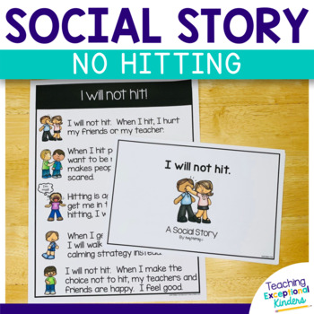 Social Story I Will Not Hit By Amy Murray Teaching Exceptional Kinders Hands Holding A Heart Social Story I Will Not Hit