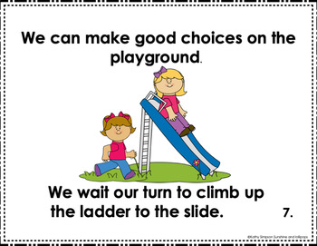 Social Story Indoor and Outdoor Recess Editable in any Language