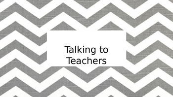 Social Story - Interacting with Teachers
