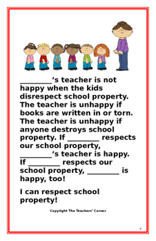 "Social Story-Interactive Style: ""I Can Respect School Property"""