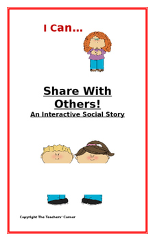 """Social Story-Interactive Style: """"I Can Share With Others"""""""
