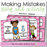 SOCIAL STORY SKILL BUILDER It's Okay To Make Mistakes, {For Girls k-2nd}