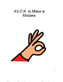 Social Story - It's Okay to Make Mistakes - Special Ed