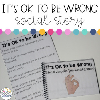 Social Story: It's OK to be Wrong