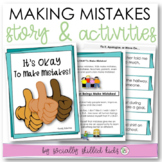 SOCIAL STORY + ACTIVITY: It's OKAY To Make Mistakes! {For