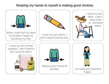 Social Story: Keep hands to self