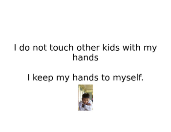 Social Story - Keeping Hands to Myself