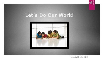Social Story: Let's Do Our Work!