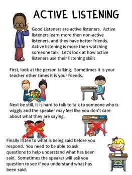 Social Story: Listening (Autism/Behavior)