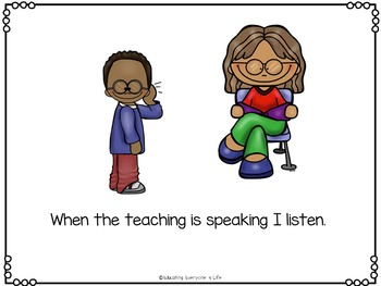 Listening In The Classroom - Social Story