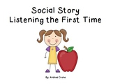 Social Story - Listening the first time