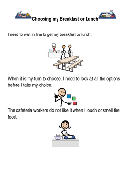 Social Story Lunch/Breakfast