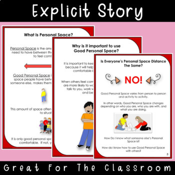 SOCIAL STORY & ACTIVITY: Personal Space {For 3rd-5th Grade or Ability Level}