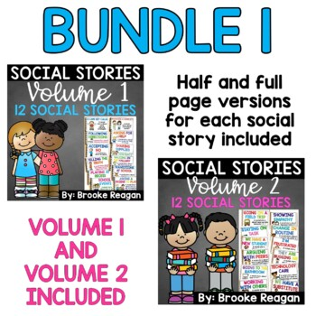 Social Story Mega Bundle: 24 Social Stories {Half and Full Page Versions}