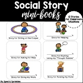 Social Stories: Mini-Books {12 Customizable Stories!}