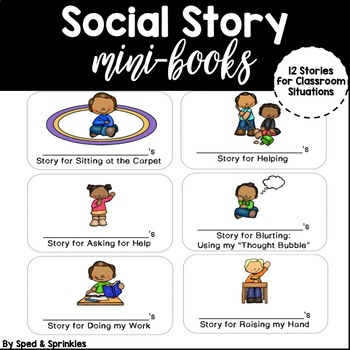 Social Story Mini-Books {12 Customizable Stories!}