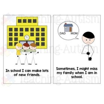 Social Story - Missing My Family in School