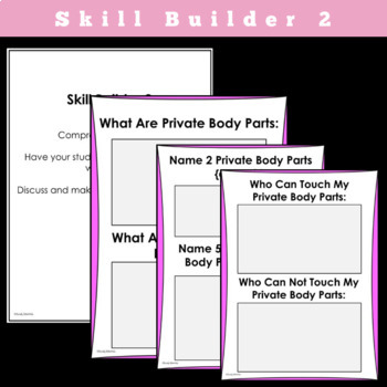 My Body, Its Private And Not-So-Private Parts SOCIAL STORY SKILL BUILDER
