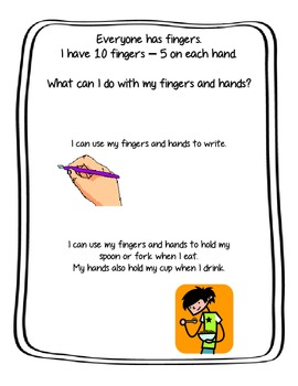 Social Story- My Fingers and My Hands