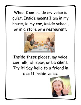 Social Story- My Inside Voice & Outside Voice