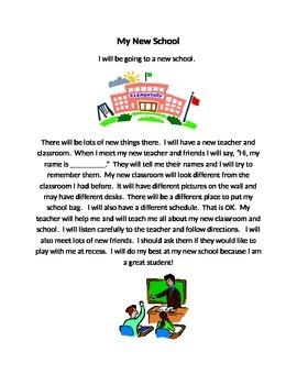 Social Story: My New School