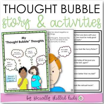 SOCIAL STORY SKILL BUILDER   My Thought Bubble Thoughts {For 3rd-5th Grade}