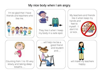 Social Story: My nice body when I am angry