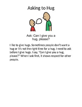 Social Story Narrative: Ask to Hug