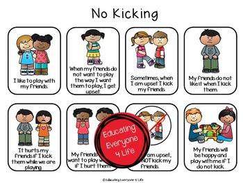 No Kicking Social Story