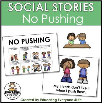 image regarding Printable Social Story known as Social Tale - No Pushing
