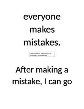 Social Story: On Making Mistakes