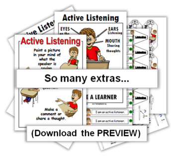 Social Story PLUS (Illustrated) - Active Listening