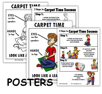 Social Story PLUS (Illustrated) - Carpet Time