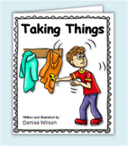 Social Story PLUS (Illustrated) - Taking Things