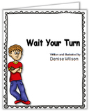Social Story PLUS (Illustrated) - Wait Your Turn