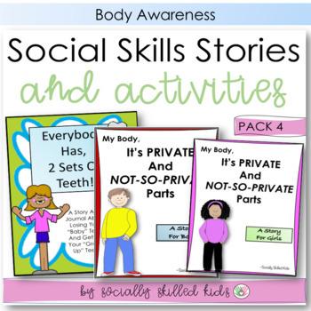 SOCIAL STORY~ Pack 4 {Body Awareness Pack, For k-5th Grade