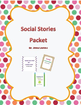 Social Story Packet for students with Autism Spectrum Diso