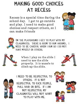Social Story: Recess (Autism/Behavior)
